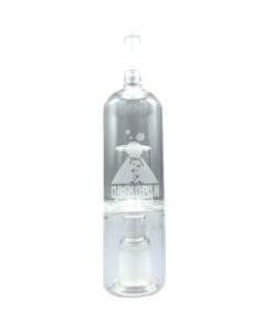 El Bubbler Obsidian Glass Bubbler hace que el vapor sea más suave al inhalar bajando la temperatura y aumentando la humedad