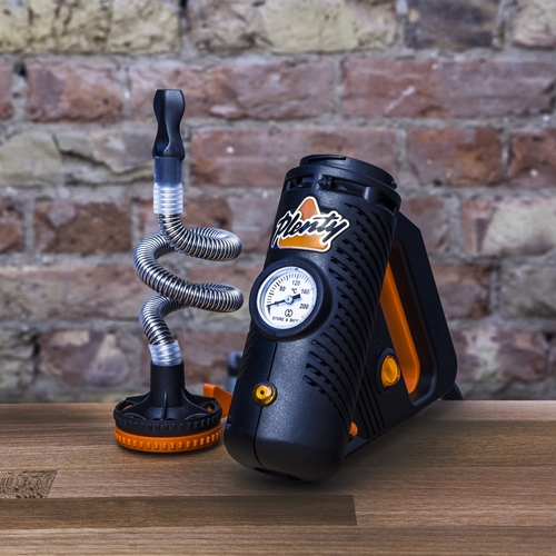 El vaporizador Plenty tiene un aspecto muy singular y se asemeja a una herramienta eléctrica